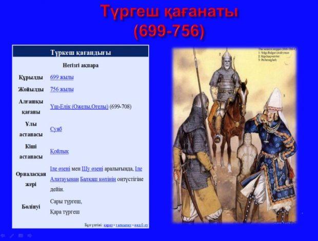Түргеш қағанаты туралы слайд